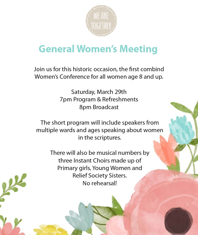 General Women's Meeting Announcement 2014